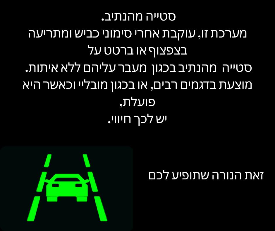נורה ירוקה בלוח השעונים של הרכב